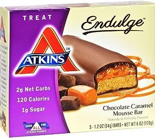 Atkins Endulge Treat Chocolate Caramel Mousse Bar, 5 Count (Pack of 6)