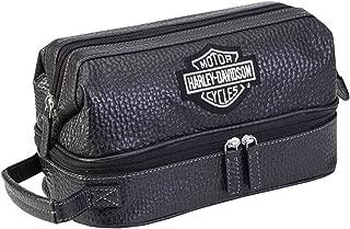 Harley Davidson Men's Deluxe Over/Under Toiletry Kit/Black