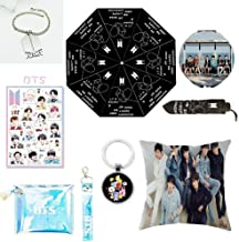 Youyouchard BTS Bangtan Boys,BTS Umbrella+BTS Keychain+Double-sided Pillow Case/Cushion Covers+ BTS Bracelet+Cosmetic Bag+Makeup Mirror+BTS Stickers,Bts Gift for Girls (H02-03)