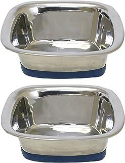 (2 Pack) of OurPets Premium DuraPet Square Dog Bowls - Medium