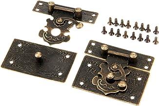 Nologo SSB-DAKOU 2 stuks antiek brons slot HASP sleutels laden voor sieraden meubels houten doos 55 x koffer 47 mm grendel...