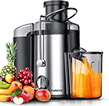 Juicer Machine, YUNSYE Wide Mouth Juice Extractor 800W, Juicers for Whole Fruit and Vegetable, Anti-drip Function, Dual Sp...