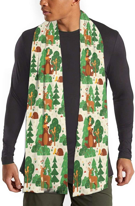 Womens Winter Scarf Funny Fox Bear Deer Bunny Hedgehog Wraps Warm Pashmina Shawls Gift Reversible Soft For Girls