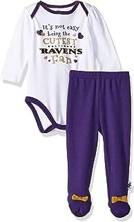 NFL Baby-Girl Bodysuit Pant & Cap Set
