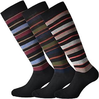 Fontana Calze, 6 paia di calze lunghe in caldo cotone elasticizzate confortevoli e rinforzate su punta e tallone. Prodotto...