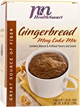 HealthSmart - Gingerbread Mug Cake Mix - 7 Individual Servings - Ready in under a Minute - High Protein 15g - Low Calorie ...