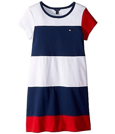 Tommy Hilfiger Kids Color Block Jersey Dress (Big Kids) (Flag Blue) Girl