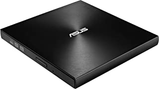 ASUS SDRW-08U9M-U/BLK/G/AS/P2G ZenDrive Slim External DVD Burner Optical Disc 8x Speed Re-Writer Drive in Silver with M-Di...