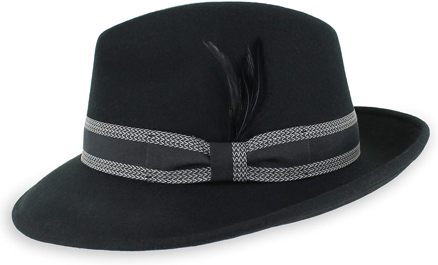 Belfry Crushable Dress Fedora Men's Vintage Style Hat 100% Pure New Free Shipping All stores are sold