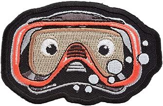 Peek-A-Boo Diver Mask Patch, Scuba Diving Caricature Patches
