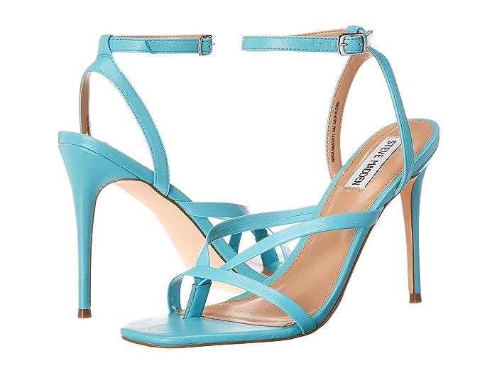 Steve Madden  Amada Heeled Sandal (Teal Leather) Womens Shoes