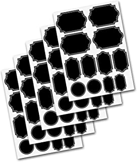 Firefly Craft Heavy Duty Chalkboard Label Stickers for Spice Jars and Organizing, Variety 60 Pack