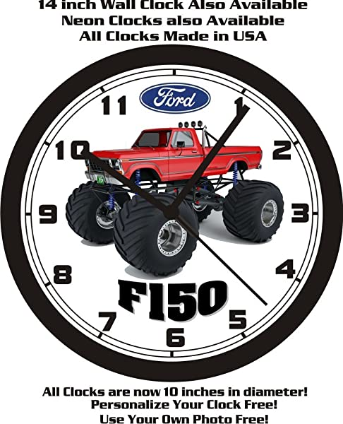 Muscle Car Memories 1978 Ford F150 Monster Truck Wall Clock Free USA Ship