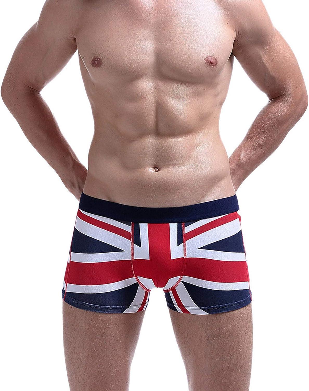 LIUguoo Men's American Flag Underwear,Soft Sexy Boxer Briefs Swimwear Running Shorts Underpants