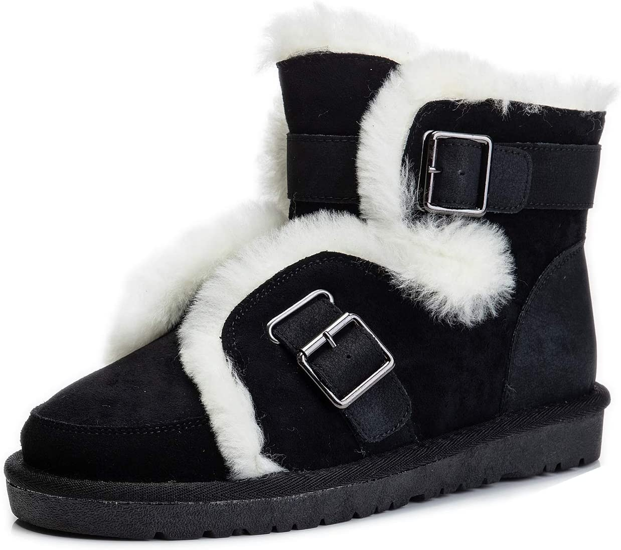 Womens Wool Snow Boots Fashion Short Boston Mall Plus Warm Be super welcome Winter Vel