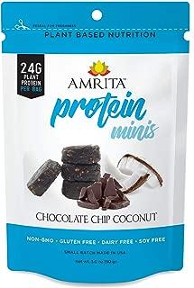 Amrita Foods - Top 14 Allergy Free, Chocolate Chip Coconut High Protein Bites, No Added Sugar, Non-GMO