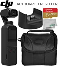 DJI Osmo Pocket Handheld 3 Axis Gimbal Stabilizer with Integrated Camera + DJI Part 5 Wireless Module Base Starters Bundle