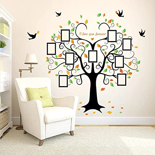 e9cdeb0add8c WandSticker4U- Wall Sticker Large Photo family tree | Effect Picture: 160 x  204 cm