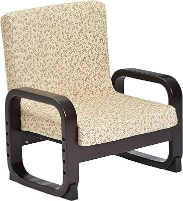 タマリビング(Tamaliving) トキコ ベージュ ゴブラン柄 高座椅子 ロータイプ 6段階リクライニング 高さ3段階調節 立ち上がりサポート [完成品] 50003285 【サイズ】幅56×奥行51×高さ56・60・64cm(座面高21・25・29)
