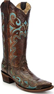 Womens Brown/Turquoise Side Embroidery, Size: 5.5, Width: M (L5193-LD-M-5.5)