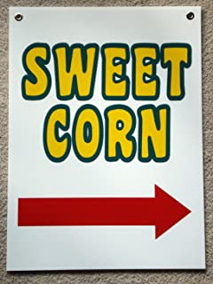 Peter Select Sweet Corn Sign with Arrow Pointing Right 18'' x 24'' with Grommets 3! Funny Retro Vintage Business Nostalgic Signs
