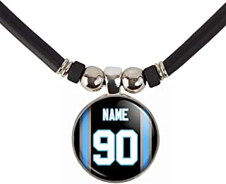 Customized and Personalized Carolina Football Jersey Necklace with Your Name and Number, By SpotlightJewels