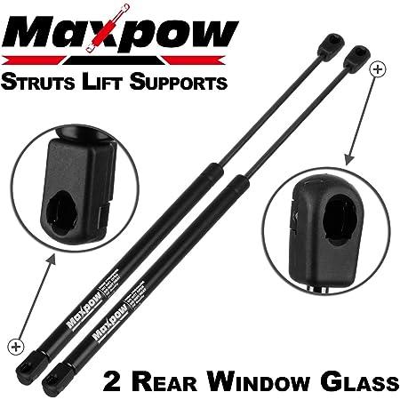 Prindong 2pcs Rear Window Glass Gas Struts for Jeep Cherokee KJ Series 2002-2007 Black