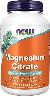NOW Supplements, Magnesium Citrate, 240 Veg Capsules