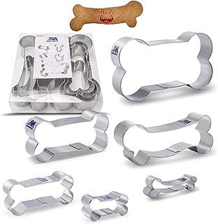 herramienta para hornear creativos moldes de acero inoxidable antiadherentes para galletas con forma de hueso de perro fondant pasteles cortadores de galletas 3 cortadores de galletas