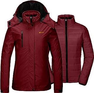 Women's Waterproof 3-in-1 Ski Snow Jacket Puffer Liner Insulated Winter Coat