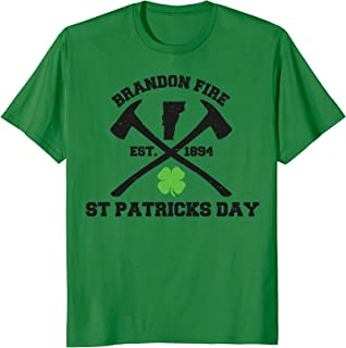 St. Patrick's Day with Brandon Fire Shirt