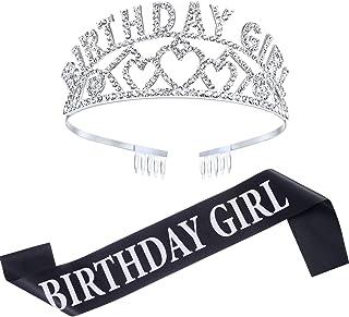 Chengu Birthday Girl Glitter Crown Rhinestone Crystal...