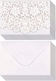 Laser Cut Blank Invitations with Envelopes 5 x 7.25 Inches (Set of 24)