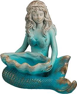 Regal Mermaid Seashell Garden Statue
