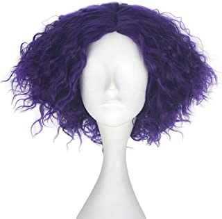 Miss U Hair Synthetic Short Fluffy Curly Hair Men Boy Party Cosplay lolita Wig Halloween Adult(Purple)