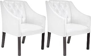 CorLiving Antonio Club chair, Regular, Espresso, White