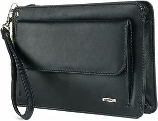 Visconti 02617 Mens Small Wrist Bag Carry- All Travel Clutch 9.5