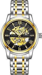 Men Watch Luxury Mechanical Stainless Steel Skeleton Waterproof Automatic Self-Winding Rome Number Diamond Dial Wrist Watch