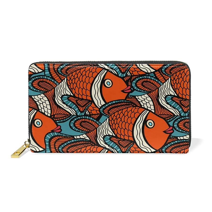 スタイル歌タッチマキク(MAKIKU) 長財布 レディース 大容量 金魚 和風 和柄 レッド レザー 革 プレゼント対応