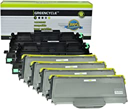 GREENCYCLE 2X Drum Unit +4X Toner Cartridge Replacements Compatible for Brother DR-360 TN-360 MFC-7340/7345N/7440N/7840W HL-2140/2170W DCP-7030/7040 Printer