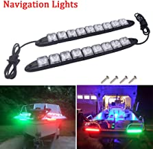 Botepon Marine Boat Bow Led Navigation Lights Deck Lights Stern Lights Courtesy Boat Light IP67 Waterproof for Boat Dinghy Pontoon Kayak Yacht Vessel Catamaran