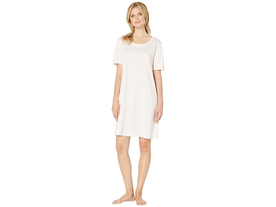 Hanro Cotton Deluxe S/S Big Shirt (Crystal Pink) Women