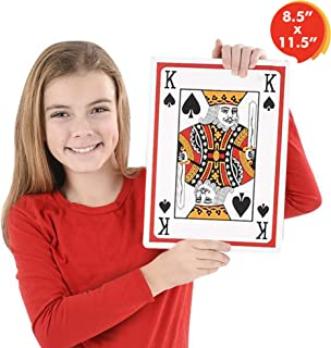 Gamie Giant Jumbo Playing Cards Deck 8.5 Inches x 11.5 Inches - Oversized Super Big Poker Card Set - Huge Casino Game Cards for Kids, Men, Women and Seniors - Great Novelty Gift Idea