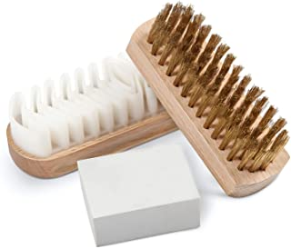suede eraser and brush