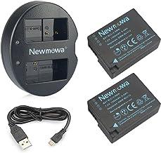 DMW-BLC12 Newmowa - Batería para Panasonic DMW-BLC12, DMW-BLC12E, DMW-BLC12PP y Panasonic Lumix DMC-FZ200, DMC-FZ1000, DMC-G5, DMC-G6, DMC-G7, DMC-G85, DMC-GH2, DMC-GX8 (2 Unidades)