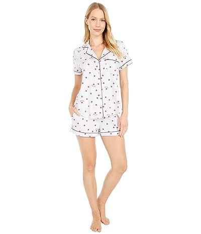 Kate Spade New York Short Sleeve Short PJ Set (Black/Multi) Women