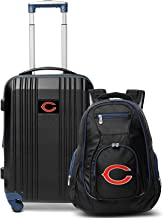 """Denco Chicago Bears 2-Piece Luggage Set, Includes 21-inch Two-Tone Hardcase Spinner and 19"""" Laptop Backpack"""