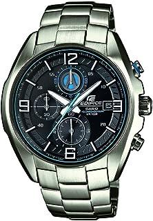 EFR-529D-1A2VUEF - Reloj analógico de Cuarzo para Hombre con Correa de Acero Inoxidable, Color Plateado