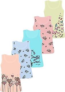 LOREZA ® 5 Camisetas de Tirantes Interiores para Niña Varios Motivos 2-13 años