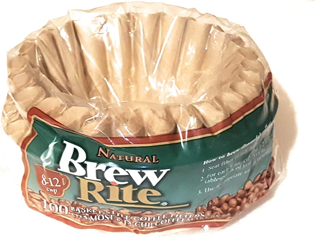 Brew Rite Natural Basket Style Coffee Filters 100 Filters